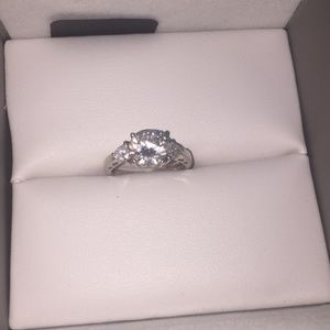 Jtv sterling silver and simulated diamond ring 6